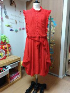 衣装持田香織風赤ドレス_前